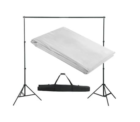vidaXL Fono rėmo sistema, 300 x 300 cm, balta