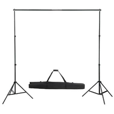 vidaXL Système de support de toile de fond 300 x 300 cm Blanc[2/4]