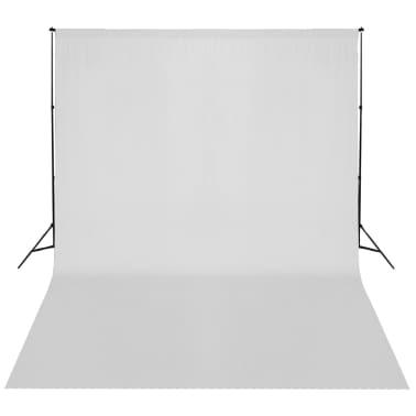 vidaXL Système de support de toile de fond 300 x 300 cm Blanc[4/4]
