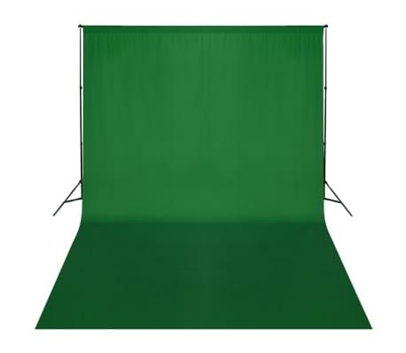 vidaXL Système de support de toile de fond 500 x 300 cm Vert[1/7]