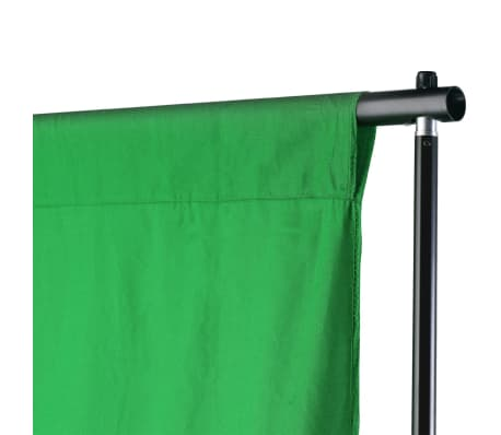 vidaXL Système de support de toile de fond 500 x 300 cm Vert[3/7]