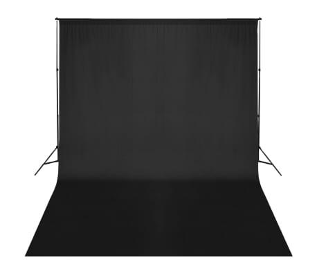 vidaXL Fotohintergrund-System 500 x 300 cm Schwarz