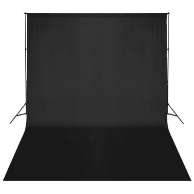vidaXL Système de support de toile de fond 500 x 300 cm Noir[1/7]