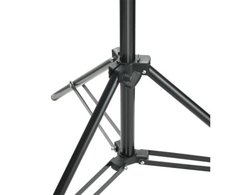 vidaXL Système de support de toile de fond 500 x 300 cm Noir[6/7]