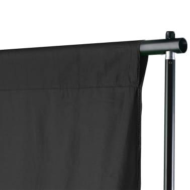 vidaXL Système de support de toile de fond 500 x 300 cm Noir[2/7]