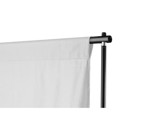 vidaXL Teleskopinė fono rėmo sistema + baltas fonas, 3 x 5 m[2/8]