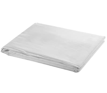 vidaXL Support de fond télescopique et toile de fond blanc 3x5 m[3/8]