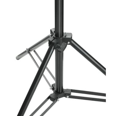 vidaXL Teleskopinė fono rėmo sistema + baltas fonas, 3 x 5 m[7/8]
