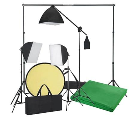 Kit Photo 3 Softbox Fond vert et Réflecteur[6/8]
