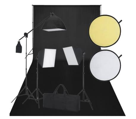 Kit studio fond noir & éclairage[1/8]