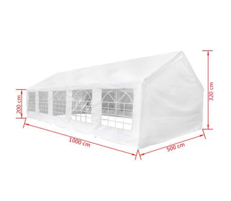 vidaXL Party Tent 32' x 16' White[6/6]