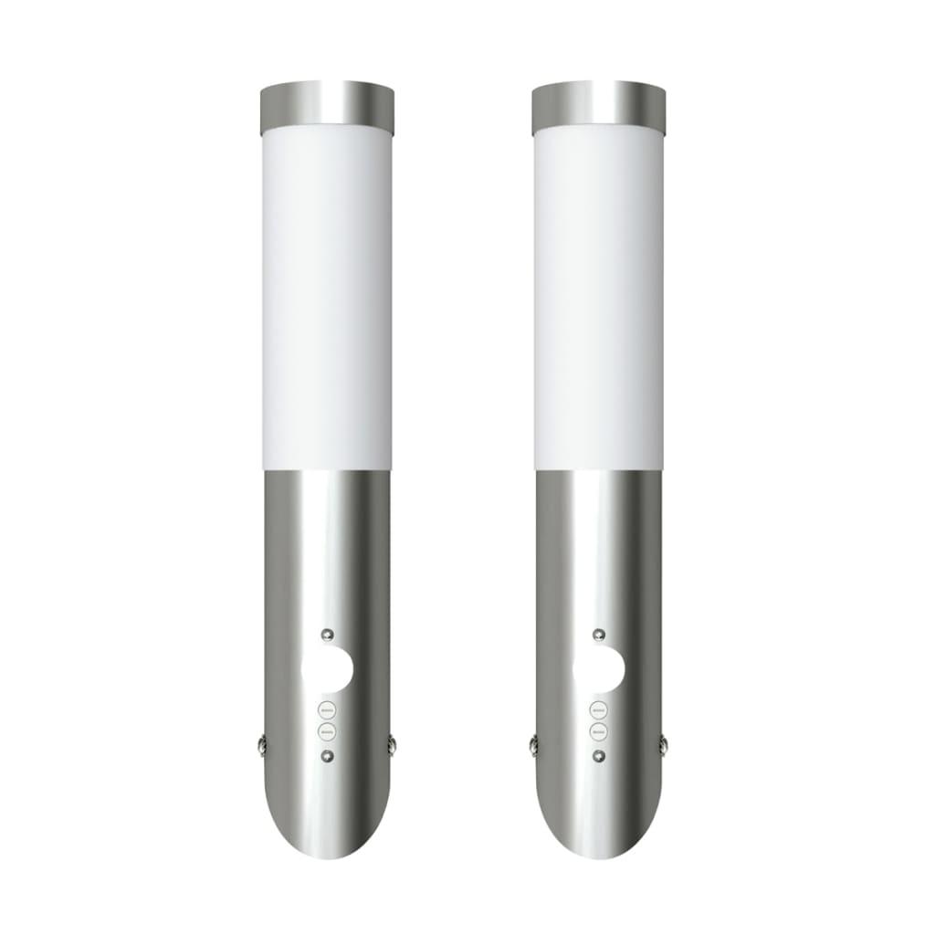 Nástěnné voděodolné svítidlo s pohybovým čidlem - 2 ks