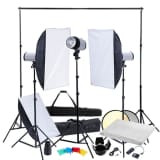 Studio Kit: Softboxes & Tripods, 3 Flash Heads