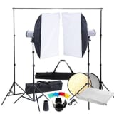 Studio Kit: 2x Flash Head, Softbox & Tripod