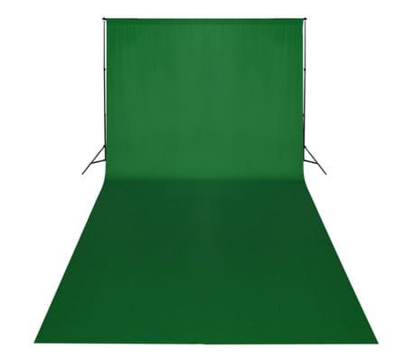 vidaXL Kit de studio et toile de fond verte 600 x 300 cm et lumières[2/9]