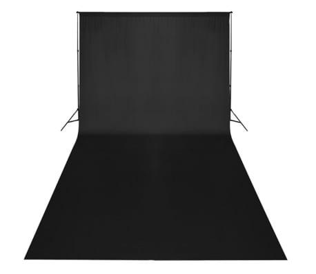vidaXL Kit de studio et toile de fond noire 600 x 300 cm et lumières[2/9]