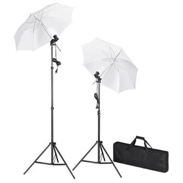 vidaXL Kit de studio et toile de fond noire 600 x 300 cm et lumières[3/9]