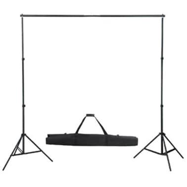 vidaXL Kit de studio et toile de fond noire 600 x 300 cm et lumières[5/9]