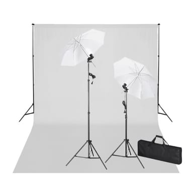cceeb414cfe vidaXL stuudiokomplekt valge taustaga 600 x 300 cm ja valgustitega[1/9]