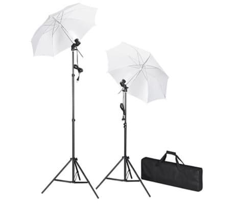 vidaXL Kit de studio avec toile de fond blanche 600x300 cm et lumières[2/9]