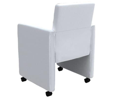 à pcs salle artificiel vidaXL 6 Chaise de manger Cuir Blanc yY7vbfg6
