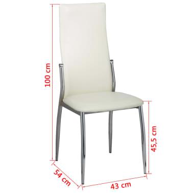 esszimmer st hle 6er set wei chrom kunstleder g nstig kaufen. Black Bedroom Furniture Sets. Home Design Ideas