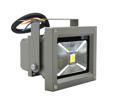 Faretti lampade led da esterno 10w 5 bianco e staffa for Lampade faretti
