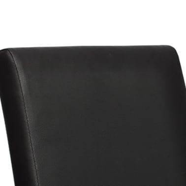 vidaXL Valgomojo kėdės, 6 vnt., dirbtinė oda, juodos[5/6]