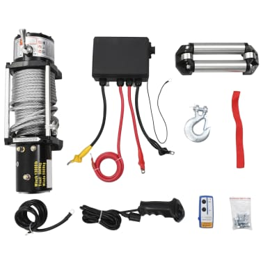 vidaXL Electric Winch 12 V 13000 lbs[3/5]