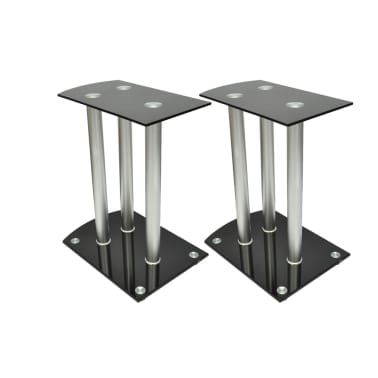 2x Luxus Lautsprecherständer Glas Lautsprecher[1/6]