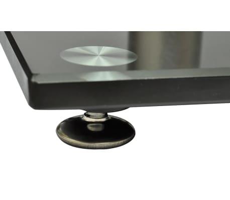 Aluminum Speaker Stands 2 pcs Black Glass[4/6]