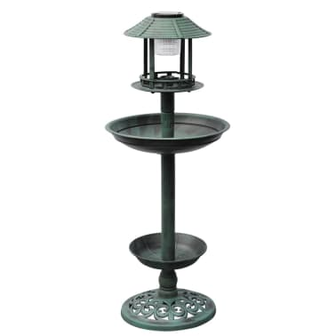 vidaXL Bird Bath/ Feeder with Solar Light[1/6]