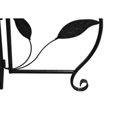 Träd gjutjärn med belysning och 3 korgar[4/6]