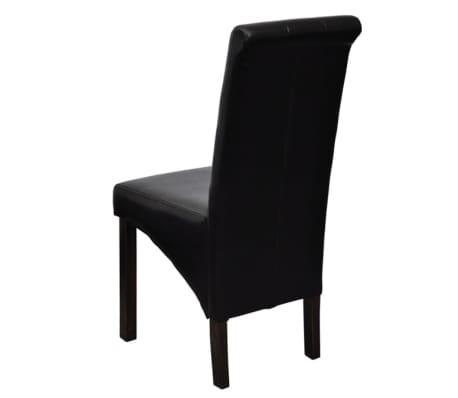 vidaXL Jedálenské stoličky 2 ks, čierne, umelá koža[4/10]