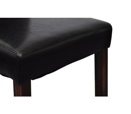 vidaXL Jedálenské stoličky 2 ks, čierne, umelá koža[6/10]