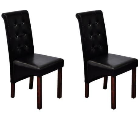 vidaXL Jedálenské stoličky 2 ks, čierne, umelá koža[7/10]