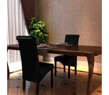vidaXL Jedálenské stoličky 2 ks, čierne, umelá koža[9/10]