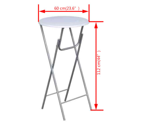 vidaXL Table de bar 4 pcs avec dessus de table en MDF Blanc[5/5]