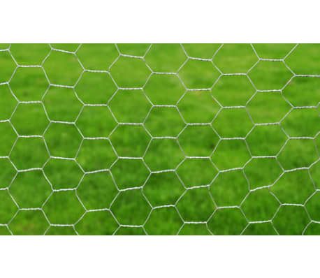 vidaXL Wired Mesh Fence Hexagon 1 x 25 m Silver[3/5]