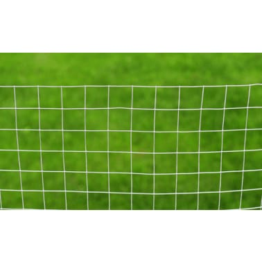 vidaXL Wired Mesh Fence Square 1 x 25 m Silver[4/5]