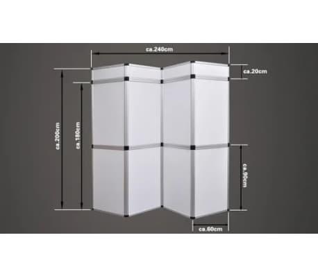 Presentatiewand kunststof 240x200cm wit[3/5]