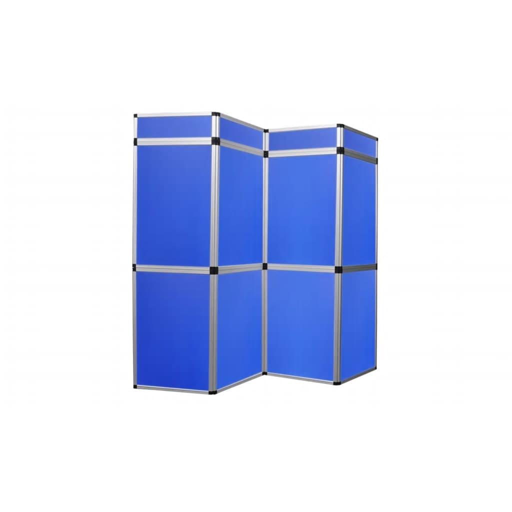 Afbeelding van vidaXL Presentatiewand kunststof 240x200cm blauw