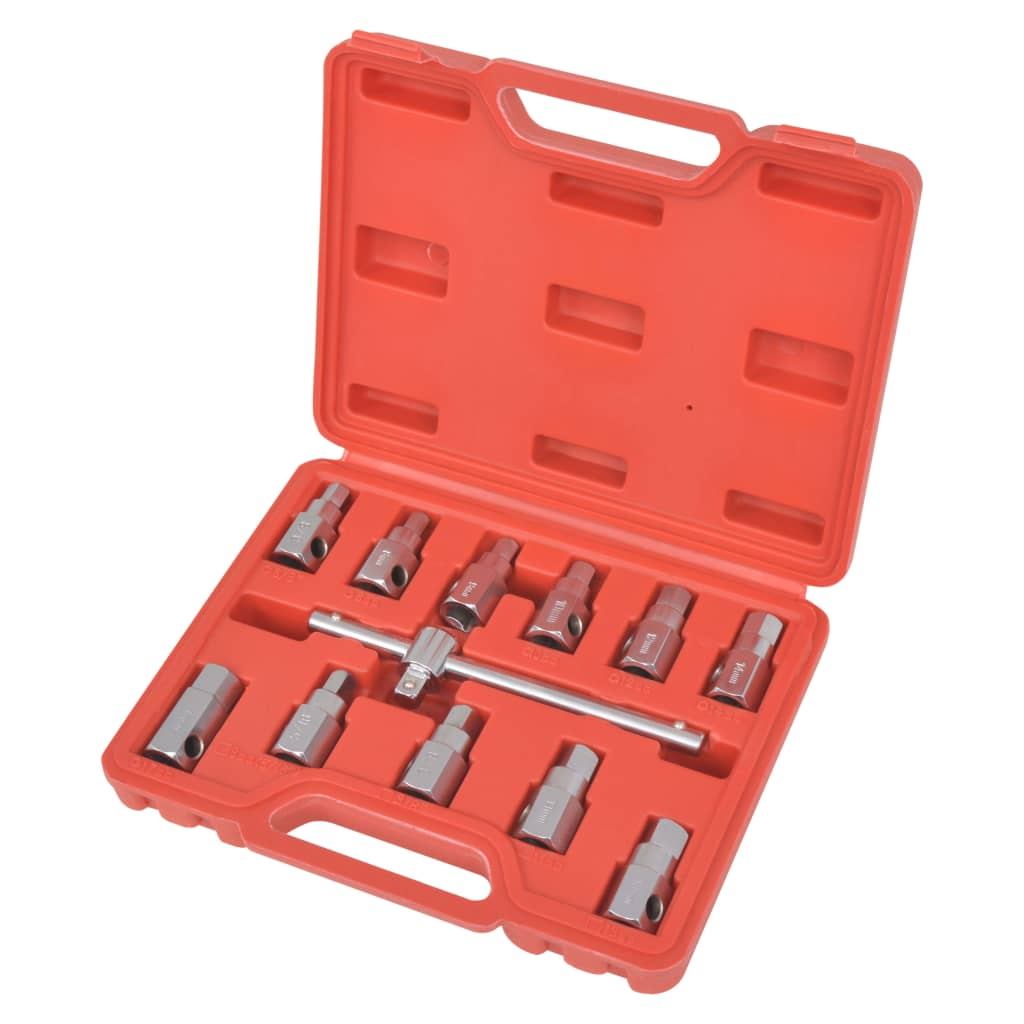 "vidaXL 3/8"" Oil Drain Sump Plug Key Set"
