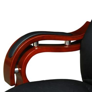 Bürostuhl Chefsessel Luxus BOSS Ledermix schwarz[5/6]