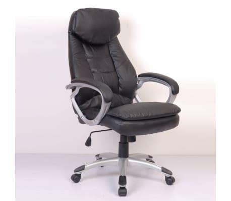 Odinė Dizainerio Biuro Kėdė, Juoda[3/6]
