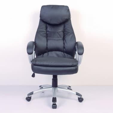 Odinė Dizainerio Biuro Kėdė, Juoda[4/6]