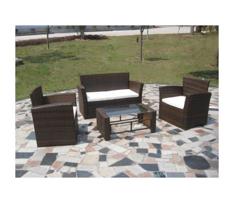 vidaXL Conjunto Muebles de Jardín Sillones y Mesita de Centro Ratán ...