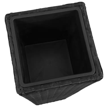 3 Rattan Flower Pots Black[6/8]
