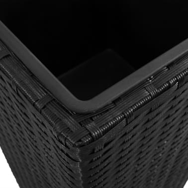 3 Rattan Flower Pots Black[7/8]