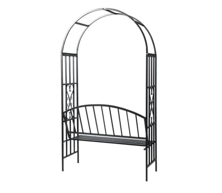 vidaXL Garden Rose Arch with Bench[3/5]